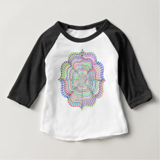Rainbow Chromatic Mandala Flower Baby T-Shirt