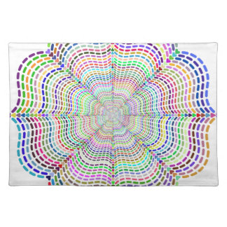 Rainbow Chromatic Mandala Flower Placemat
