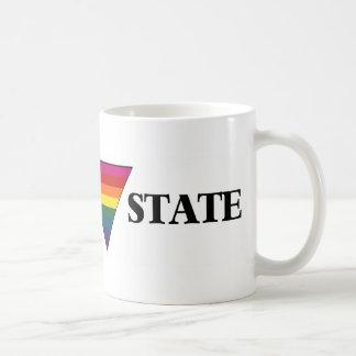 Rainbow church triangle state coffee mug