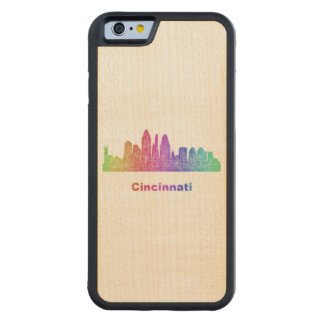 Rainbow Cincinnati skyline Maple iPhone 6 Bumper