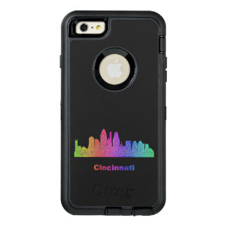 Rainbow Cincinnati skyline OtterBox iPhone 6/6s Plus Case