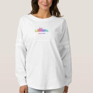 Rainbow Cincinnati skyline Spirit Jersey