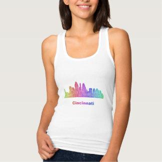 Rainbow Cincinnati skyline Tank Top