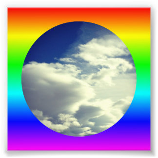 Rainbow Circle Border Photo Print