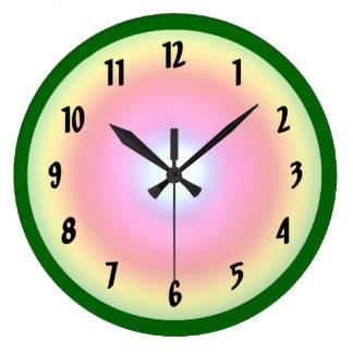 Rainbow Circle Large Clock