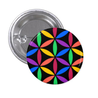 Rainbow circles 1 inch round button