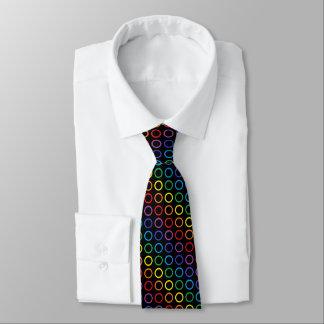 Rainbow Circles Black Tie