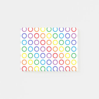 Rainbow Circles White Post-it Notes