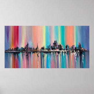 Rainbow city poster