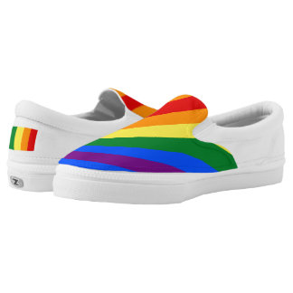 Rainbow Classic Kicks Zip Slip on Shoes