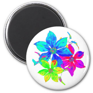 Rainbow Clematis Magnet