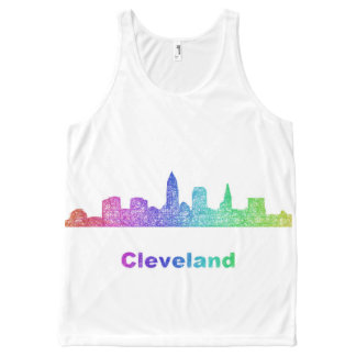 Rainbow Cleveland skyline