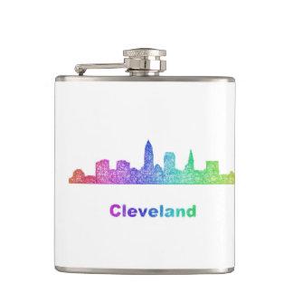 Rainbow Cleveland skyline Flasks