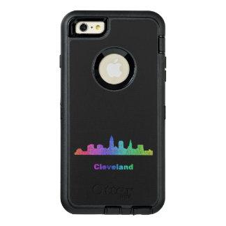 Rainbow Cleveland skyline OtterBox iPhone 6/6s Plus Case