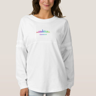 Rainbow Cleveland skyline Spirit Jersey