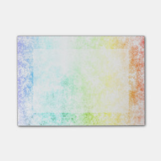 Rainbow Cloud Background Customize or Stay Cloudy Post-it Notes