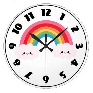 Rainbow Cloud Clock