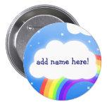 Rainbow cloud custom name  - button badge