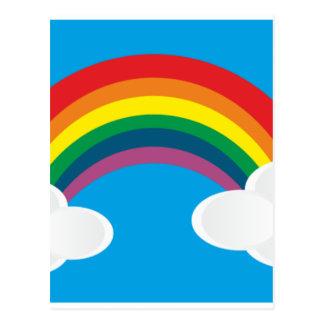 Rainbow Cloud Image Postcard