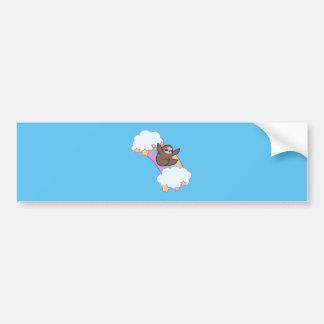 Rainbow Cloud Sloth Bumper Sticker
