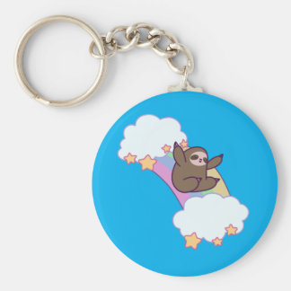 Rainbow Cloud Sloth Keychain