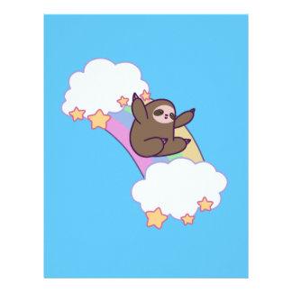 Rainbow Cloud Sloth Letterhead