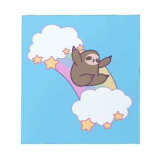 Rainbow Cloud Sloth Notepad
