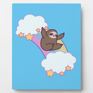 Rainbow Cloud Sloth Plaque