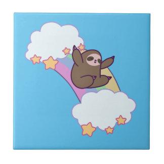 Rainbow Cloud Sloth Tile