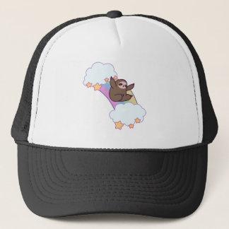 Rainbow Cloud Sloth Trucker Hat