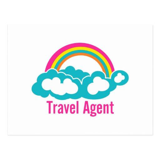 Rainbow Cloud Travel Agent Post Cards