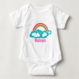 Rainbow Cloud Waitress Baby Bodysuit
