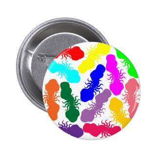 Rainbow Clouds 2 Inch Round Button