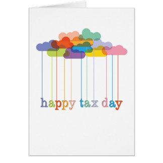 Rainbow Clouds Happy Tax Day Card