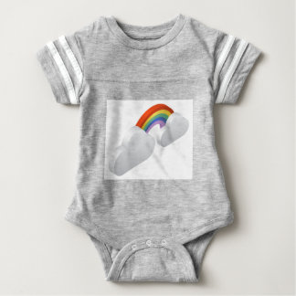 Rainbow Clouds Weather Icon Concept Baby Bodysuit