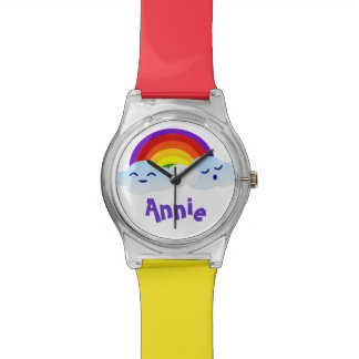 Rainbow Clouds Wrist Watch