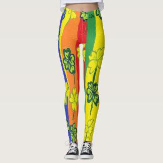 Rainbow clover leggings