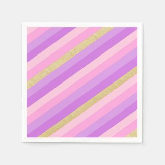 Rainbow Cocktail Paper Napkins