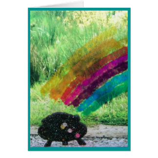 Rainbow Collage St. Patrick's Day Note Card
