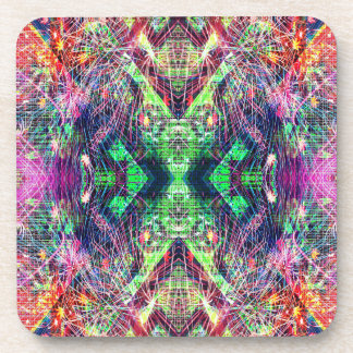 Rainbow Color Abstract Pattern Coaster