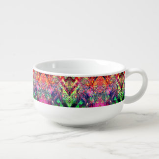 Rainbow Color Abstract Pattern Soup Mug