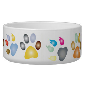 Rainbow Color Animal Paws Food Dish
