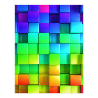 Rainbow Color Boxes with amazing Cool Down Effect Letterhead