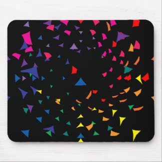 Rainbow Color Shards in Chaos Mouse Pad