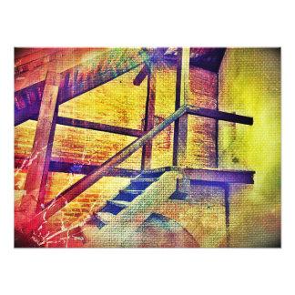 Rainbow Color Stairs Photo Print