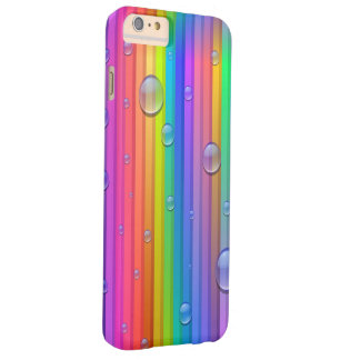 Rainbow Color Stripes Barely There iPhone 6 Plus Case