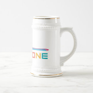 Rainbow Color Trombone Beer Stein