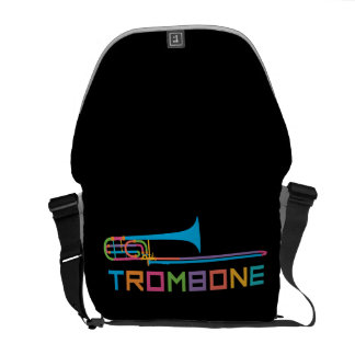 Rainbow Color Trombone Commuter Bag