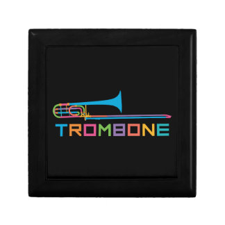 Rainbow Color Trombone Gift Box