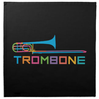 Rainbow Color Trombone Napkin